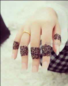#mehendi #henna #art #design #fingers #lovely