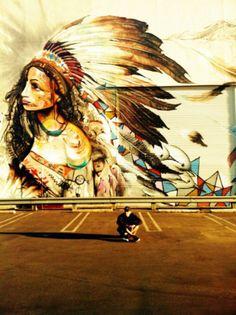 Hipster graffiti art.Chris Brown #street art