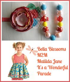 """Made to match Matilda Jane """"It's a Wonderful Parade"""" """"like"""" me on facebook: https://www.facebook.com/pages/Bella-Blossoms/127196967376543 Follow me on instagram: bellagvblossoms"""