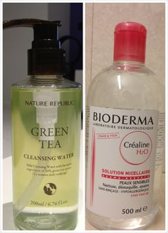 """Nature Republic Cleansing Water VS Bioderma Crealine H2O Micelle Solution; elf lip exfoliator reviews 