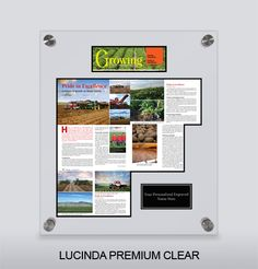 Growing Magazine wall plaque