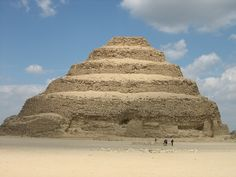 Step Pyramid of Djoser, Saqqara, Egypt. The first of the great pyramids built in Egypt, during the Old Kingdom's 3rd Dynasty about 2800 BC
