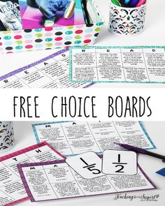 Students are more engaged and motivated when given choice. This post breaks down how you can use choice boards to offer choice and increase student mastery. FREE choice boards included.