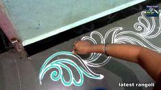 beautiful border rangoli/ border kolam /border muggulu by latest rangoli Rangoli Side Designs, Rangoli Designs Latest, Simple Rangoli Designs Images, Rangoli Borders, Free Hand Rangoli Design, Small Rangoli Design, Rangoli Ideas, Rangoli Designs With Dots, Rangoli Designs Diwali