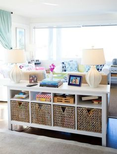 kid and adult friendly living space    Child's Play...organizing one toy at a time
