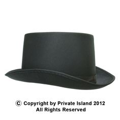 Private Island Party  - Black Deluxe Satin Top Hat 1352, $2.00- $3.99   Whether you're performing a magcruise through the city or the countryside act or going for a formal look that's all your own, the deluxe black satin top hat will be a perfect compliment to your evening attire. Just make sure you know how to put your assistant back together after the show!