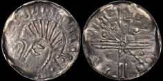 Hiberno-Norse. AR penny. 0.42 gm. 17 mm. Crude imitation of Æthelred's long cross type. Phase VI, struck circa 1095-1110. Very crude bust left, - for eye, crozier before / Voided long cross with central pellet in annulet, scepters and pellets in one pair of opposing quarters, single pellets in other pair. SCBI Hiberno-Norse 232-249. D&F 32. S. 6187. Good Very Fine; toned, old toning. Old Things, Eye, Personalized Items