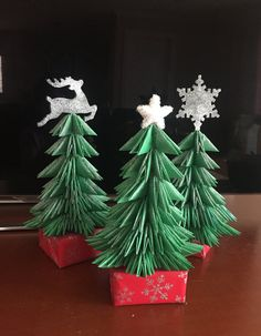 3D Origami Christmas tree by 3dfunartstudio on Etsy