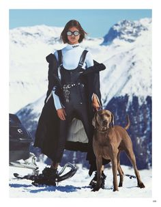 Model of the moment Birgit Kos suits up, styled by Giovanna Battaglia Engelbert in ski-ready, snow-bunny looks from Givenchy, Emporio Armani, Gucci and more. Photographer Erik Torstensson captures Birgit in 'Skiing in Luxury' for Vogue Japan August Vogue Japan, Vogue Editorial, Editorial Fashion, Fashion Editor, Snow Fashion, Winter Fashion, Apres Ski Outfits, Leather Overalls, Ski Bunnies