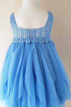 Azul bebé vestido de tul con cintura imperio y por AylinkaShop