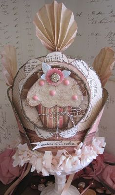 Gorgeous Mixed Media #cupcake #crown from Posies on Parade