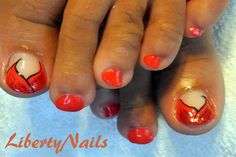 Tulip toes by libertynails - Nail Art Gallery nailartgallery.nailsmag.com by Nails Magazine www.nailsmag.com #nailart