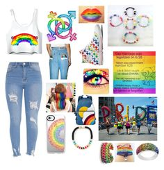 """""""LGBTQ Support"""" by sofiagarcia-27 ❤ liked on Polyvore featuring The Ragged Priest, Anya Hindmarch, Casetify, Hermina Wristwear and Holst + Lee"""