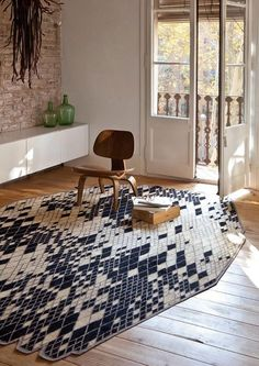 """Losanges II"" is a design rug produced by Nani Marquina, designed by Ronan & Erwan Bouroullec and made of Afghan wool"