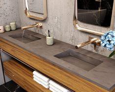 New Corian Multi Basin Washplane Bathroom Sink Bowls, Laundry In Bathroom, Corian Countertops, Bathroom Countertops, Lavabo Corian, Interior Design And Construction, New Kitchen Cabinets, Kitchen Sink, Diy Kitchen Remodel