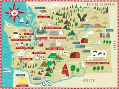 Smith Brother's Farms, Washington illustrated map by Nate Padavick (www.idrawmaps.com)