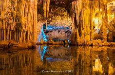 Neptune's Grotto is a stalactite cave near the town of Alghero on the island of Sardinia, Italy. The cave was discovered by local fishermen in the 18th century and has since developed into a popular tourist attraction.