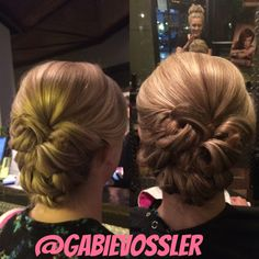 #Updo hair by Gabie  Vossler at Glass Door Salon and Spa