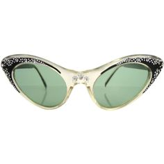 Preowned 1950's Cat Eye Sunglasses ($200) ❤ liked on Polyvore featuring accessories, eyewear, sunglasses, glasses, naocale, multiple, tinted sunglasses, cat eye sunglasses, cat eye glasses and cateye sunglasses