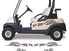 Golf Cart Go Kart Stickers Graphics Decals Tribal Flames Stripes GC59