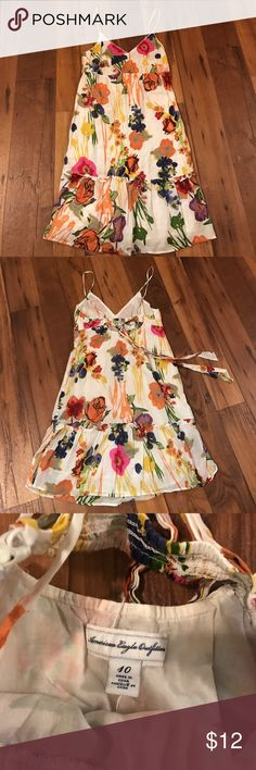 American Eagle Dress Floral Sundress American Eagle Outfitters Dresses