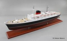 """39"""" Ocean Liner Model – SS Flandre (1951) SD Model Makers offers museum quality ocean liner and cruise ship models in ANY size or scale.  www.sdmodelmakers.com"""