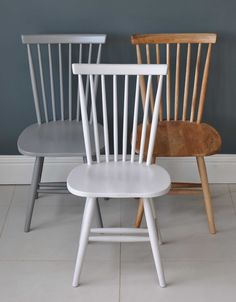 Spindle Back Valley Dining Chair - Painted or Natural Oak. Choose from antique white, taupe or hardwood finish. Simple, comfortable and timeless.