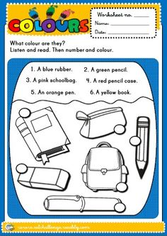 COLOURS WORKSHEET http://eslchallenge.weebly.com/english-yes-1.html