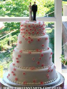 Fondant Wedding Cake with Calla lilies Tortes n Tarts, Gig Harbor, WA