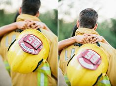 Firefighter Engagement Session: Lauren + Chad Marianne Wilson Photography