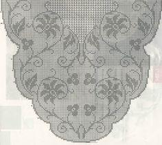 Professione Donna: Schemi per il filet: Centro ovale con fantasia di fiori