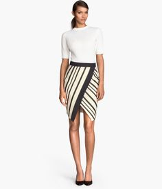 H&M Wrap Front Skirt $34.95 - I would wear this whole outfit to a gallery exhibition