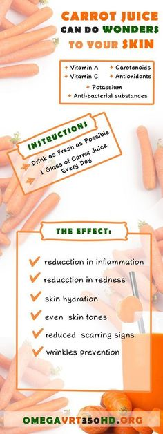Carrot juice benefits for the skin - What carrot juice can do for you? http://ifocushealth.com/carrot-juice-benefits/