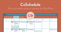 CoSchedule is a drag-and-drop editorial calendar for WordPress. With it, you can schedule blog posts with your team and automatically send messages to your social networks.