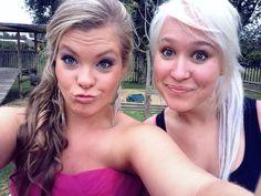 Prom dress , hair , girl , best friends forever , girls , beautiful ♡