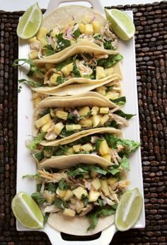 Chicken Pineapple Tacos ~yum! Butter with a Side of Bread #recipe #chicken
