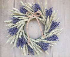Dried fragrant Lavender and Wheat wreath. by NHWoodscreations
