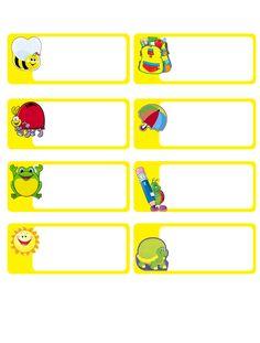 RECURSOS DE EDUCACION INFANTIL: ETIQUETAS Preschool Names, Preschool Class, Kindergarten, Printable Name Tags, School Frame, Name Labels, Class Decoration, Borders For Paper, Name Stickers