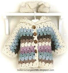 Shelter in crochet for children step by step. beautiful - Crochet Designs Free # Easy Crafts step by step Crochet Diy, Pull Crochet, Crochet Girls, Crochet Baby Clothes, Crochet For Kids, Crochet Saco, Crochet Baby Sweaters, Cardigan Au Crochet, Cardigan Bebe