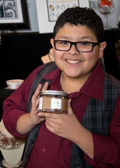 """Rico Rodriguez from """"Modern Family"""" with Cherry Tree Soaps."""
