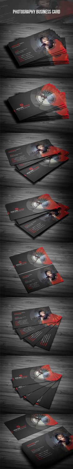 Photography Business Card Template. Click here for more: https://graphicriver.net/user/vejakakstudio/portfolio