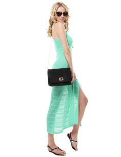 Crochet Lace Maxi Dress With Side Slits #11foxy