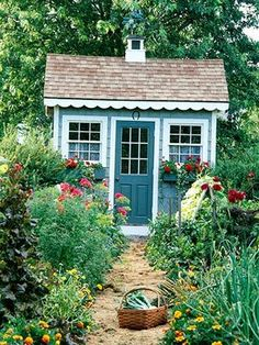 A garden shed provides a fantastic place to house your gardening tools and supplies, not to mention creating a beautiful focal point to your backyard. 12 Simple Potting Shed renovated ideas for your backyard outdoor space Outdoor Rooms, Outdoor Gardens, Outdoor Sheds, Outdoor Living, Outdoor Office, Outdoor Kitchens, Garden Cottage, Home And Garden, Cozy Cottage
