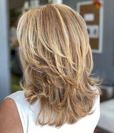 Haircuts For Medium Hair, Bangs With Medium Hair, Haircut For Thick Hair, Medium Hair Cuts, Medium Hair Styles, Curly Hair Styles, Brown Blonde Hair, Tips Belleza, Great Hair