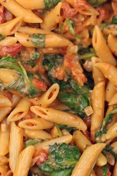 Spinach Pasta Recipes, Pasta Recipes Video, Pasta Dinner Recipes, Chicken Spinach Pasta, Healthy Pasta Recipes, Healthy Pastas, Vegetarian Recipes, Chicken Recipes, Cooking Recipes