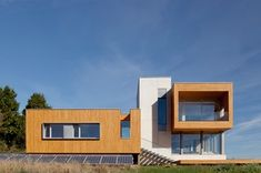 But Passive House principles are not absolute, so the design of the windows follows from the site and its myriad considerations: sun, wind, ...