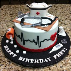 Perfect #Cake for a #nurse's birthday!
