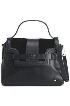 d631ad7a28 HALSTON HERITAGE Suede-paneled leather shoulder bag