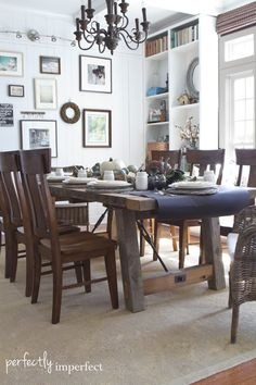 Easy Fall Dining Room Tablescape   perfectly imperfect