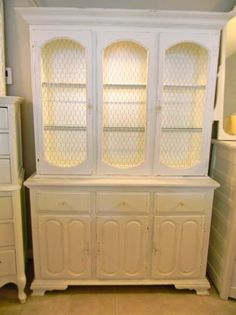 French Country China Cabinet Hutch